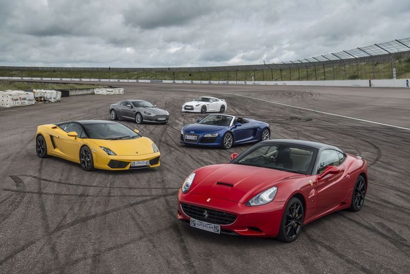 Silver Five Car Drive Supercar Driving Experience Package